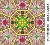 vector patchwork quilt pattern. ... | Shutterstock .eps vector #1065942065