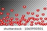 social media marketing. likes  ... | Shutterstock .eps vector #1065950501
