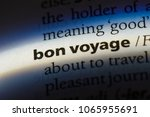 bon voyage word in a dictionary.... | Shutterstock . vector #1065955691