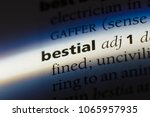 Small photo of bestial word in a dictionary. bestial concept.