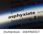 Small photo of asphyxiate word in a dictionary. asphyxiate concept.
