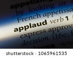applaud word in a dictionary.... | Shutterstock . vector #1065961535