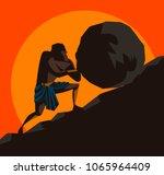 sisyphus greek myth   Shutterstock .eps vector #1065964409