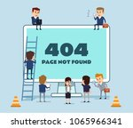 small people working on web... | Shutterstock .eps vector #1065966341