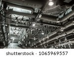 hvac duct cleaning  ventilation ... | Shutterstock . vector #1065969557