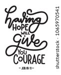 having hope will give you... | Shutterstock .eps vector #1065970541