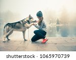 image of young girl with her... | Shutterstock . vector #1065970739