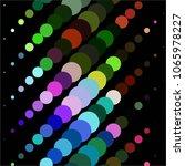 vintage halftone color dots... | Shutterstock .eps vector #1065978227