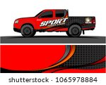 truck graphic. simple curved...   Shutterstock .eps vector #1065978884