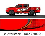 truck graphic. simple curved...   Shutterstock .eps vector #1065978887