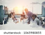 team at work  group of asia... | Shutterstock . vector #1065980855
