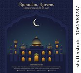 ramadan kareem background with... | Shutterstock .eps vector #1065983237