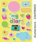 dear diary scrapbook elements.... | Shutterstock .eps vector #106598405