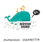 illustration of a sleeping... | Shutterstock .eps vector #1065987779