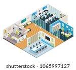 modern isometric startup... | Shutterstock .eps vector #1065997127