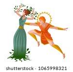 daphne greek mythology... | Shutterstock .eps vector #1065998321