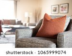a red geometric pattern throw... | Shutterstock . vector #1065999074