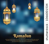 ramadan background with... | Shutterstock .eps vector #1066001534