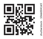 qr code vector design for smart ... | Shutterstock .eps vector #1066004165