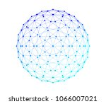 sphere with network connection... | Shutterstock . vector #1066007021