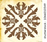 retro baroque decorations... | Shutterstock .eps vector #1066010549