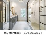 luxurious updated bathroom | Shutterstock . vector #1066013894