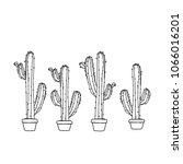 cactus in a pot    Shutterstock .eps vector #1066016201