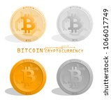 cryptocurrency. bitcoin ... | Shutterstock .eps vector #1066017749