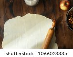 raw dough with ingredients for... | Shutterstock . vector #1066023335