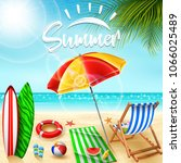 summer holidays background | Shutterstock .eps vector #1066025489