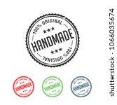 100  original handmade... | Shutterstock .eps vector #1066035674