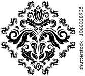 oriental vector pattern with... | Shutterstock .eps vector #1066038935