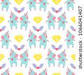cute unicorn baby vector...   Shutterstock .eps vector #1066041407