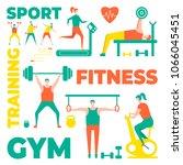 people practicing sport vector... | Shutterstock .eps vector #1066045451