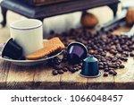 italian espresso coffee... | Shutterstock . vector #1066048457