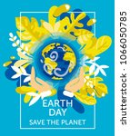 card for earth day with our... | Shutterstock .eps vector #1066050785