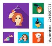 manipulation by hands flat... | Shutterstock .eps vector #1066057775