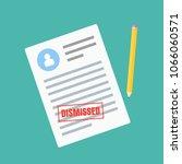 form of dismissal. claim form... | Shutterstock . vector #1066060571