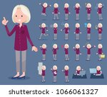 flat type purple shirt old... | Shutterstock .eps vector #1066061327