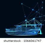 transportation  import export... | Shutterstock .eps vector #1066061747