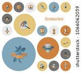 oktoberfest beer festival. flat ... | Shutterstock .eps vector #1066062059