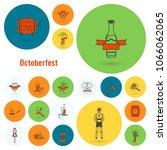 oktoberfest beer festival. flat ... | Shutterstock .eps vector #1066062065