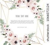 vector floral design card.... | Shutterstock .eps vector #1066072124