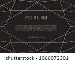 gold polygonal frame  ... | Shutterstock .eps vector #1066072301