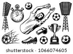 set of soccer elements and... | Shutterstock .eps vector #1066074605