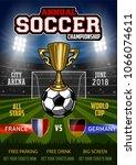 soccer tournament modern sport...   Shutterstock .eps vector #1066074611