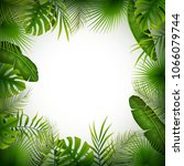 tropical jungle background with ...   Shutterstock .eps vector #1066079744