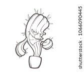 vector hand drawn illustration... | Shutterstock .eps vector #1066090445
