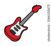 cartoon bass guitar   Shutterstock .eps vector #1066103675