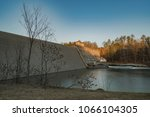 delta dam state in the city of... | Shutterstock . vector #1066104305